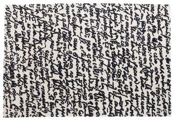 שטיח פאטרן שחור לבן MANUSCRIT