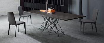 שולחן אוכל מלבני עם רגל מרכזית OCTA אגוז