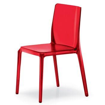 כסא אוכל בצבע אדום