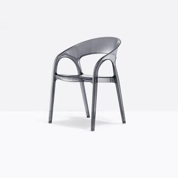 כסא אוכל בצבע אפור מעושן