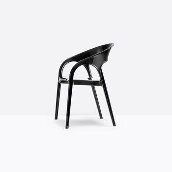 כסא אוכל בצבע שחור