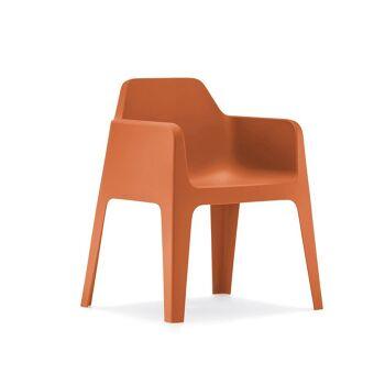 כסא אוכל לגינה בצבע כתום