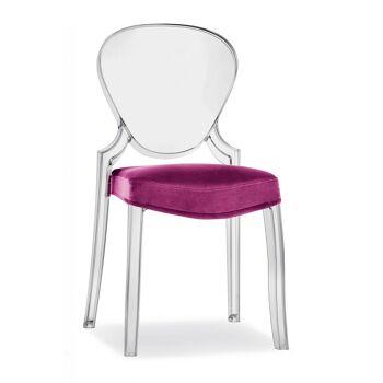 כסא אוכל בצבע ורוד