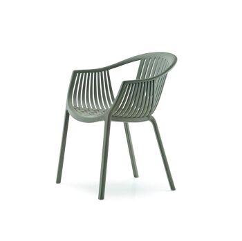 כסא אוכל לגינה בצבע ירוק