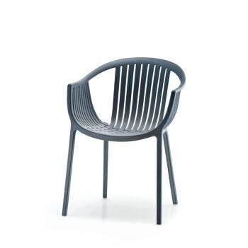 כסא אוכל לגינה בצבע כחול
