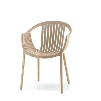 כסא אוכל לגינה בצבע בז'