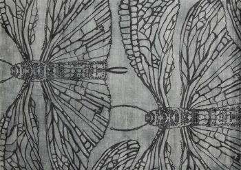 שטיח ירוק דוגמת שפיריות