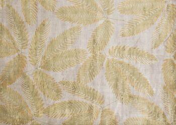 שטיח חרדל בדוגמת עלים