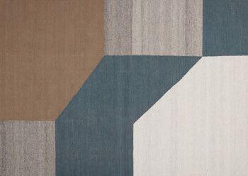 שטיח גאומטרי חרדל טורקיז