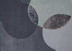 שטיח אפור גאומטרי עיגולים