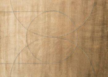 שטיח חום בהיר עיגולים