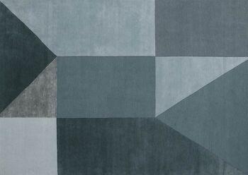 שטיח גאומטרי כחול