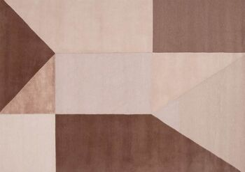 שטיח גאומטרי ורוד