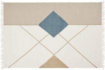 שטיח גאומטרי בגוונים פסטלים