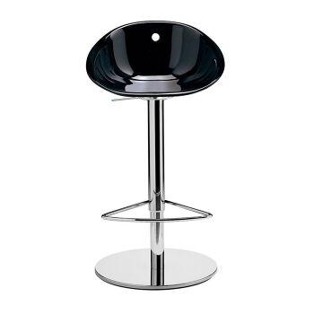 כסא בר הידראולי בצבע שחור
