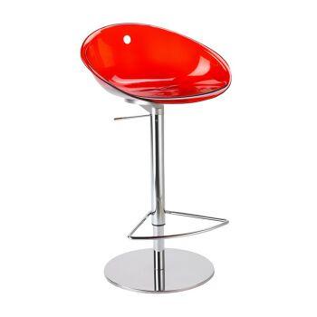 כסא בר הידראולי בצבע אדום