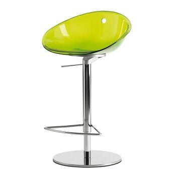 כסא בר הידראולי בצבע ירוק
