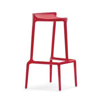כסא בר בצבע אדום