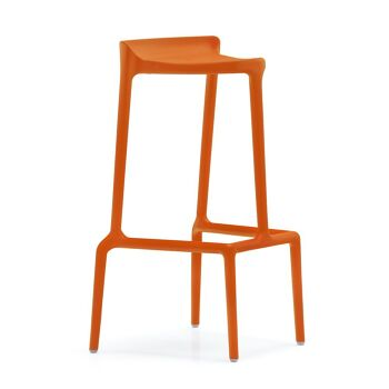 כסא בר בצבע כתום