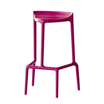 כסא בר בצבע ורוד