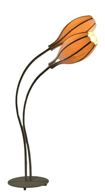 """מנורת עמידה מפורניר עץ """"דרופ 45 """""""