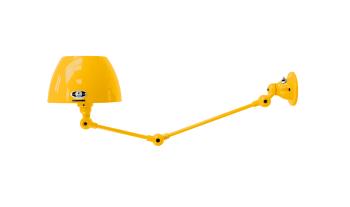 תאורת קיר בצבע צהוב