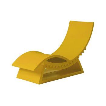מיטת שיזוף טיק-טק בצבע צהוב