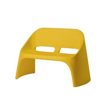 ספה דו מושבית מינימלסטית אמלי בצבע צהוב