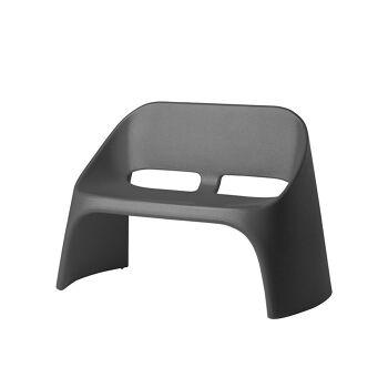 ספה דו מושבית מינימלסטית אמלי בצבע אפור