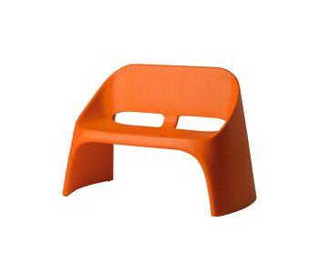 ספה דו מושבית מינימלסטית אמלי בצבע כתום