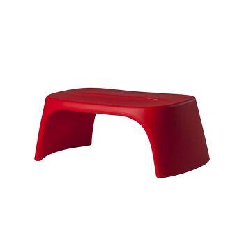 ספסל גינה מינימלסטי בצבע אדום