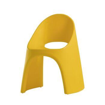 כסא אוכל מינימלסטי אמלי בצבע צהוב