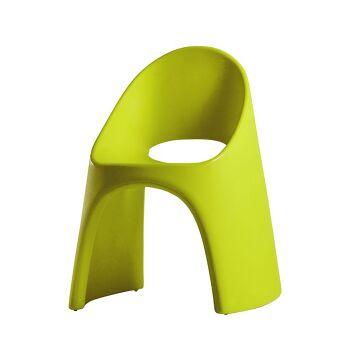 כסא אוכל מינימלסטי אמלי בצבע ירוק
