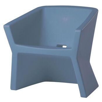 כורסת גן דקורטיבית, בצבע כחול