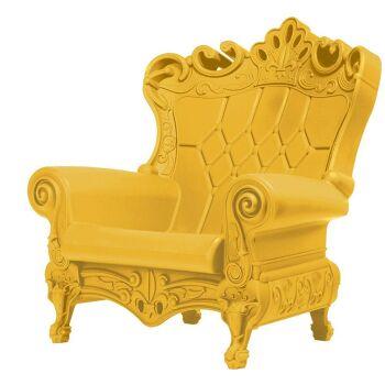 כורסת מלכים בצבע צהוב