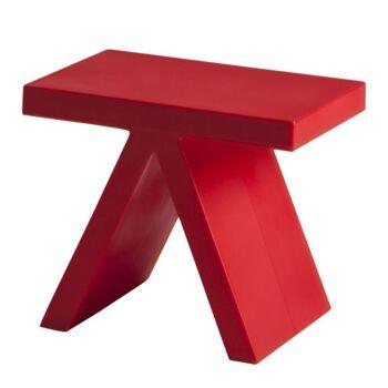 שולחן צד בצבע אדום