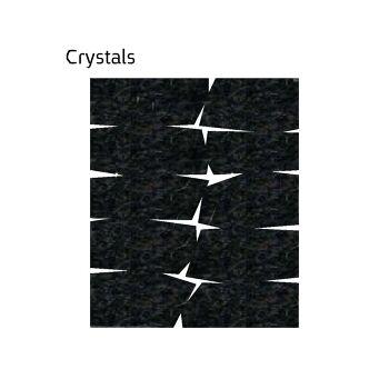 שטיח לבד בגון שחור Crystals