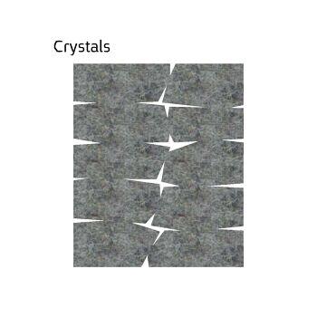 שטיח לבד בצבע אפור בהיר Crystals