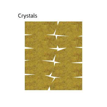 שטיח לבד בגוון חרדל Crystals