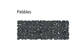 שטיח לבד צר pebbles בצבע אפור
