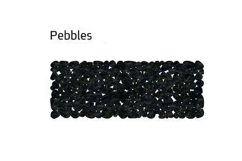 שטיח לבד צר pebbles בצבע שחור