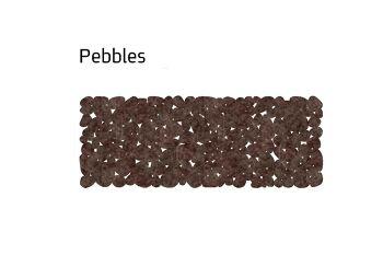 שטיח לבד צר pebbles בצבע חום