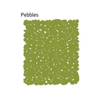 שטיח לבד Pebbles בצבע ירוק