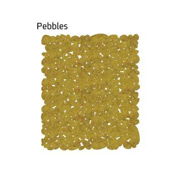 שטיח לבד Pebbles בצבע חרדל