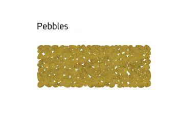 שטיח לבד צר pebbles בצבע חרדל