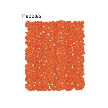 שטיח לבד Pebbles בצבע כתום