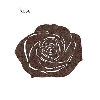 שטיח לבד ROSE בצבע חום
