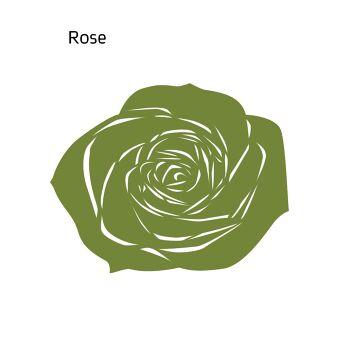 שטיח לבד ROSE בצבע ירוק