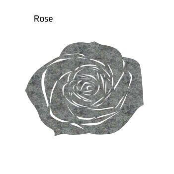 שטיח לבד ROSE בצבע אפור