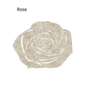 שטיח לבד ROSE בצבע בז'